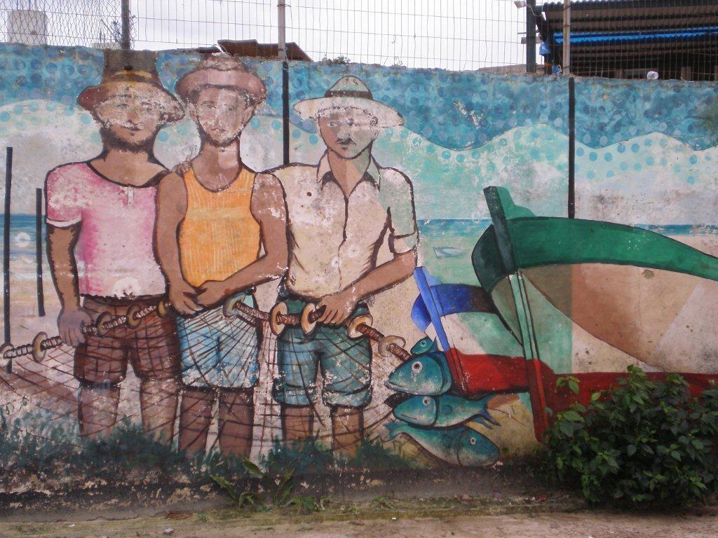 Wandbild in Cabo Frio