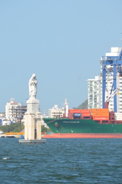 Einfahrt Cartagena Bay
