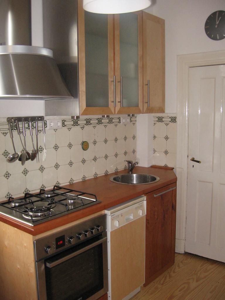 Küche - Mix aus Birken - und Kirschholz