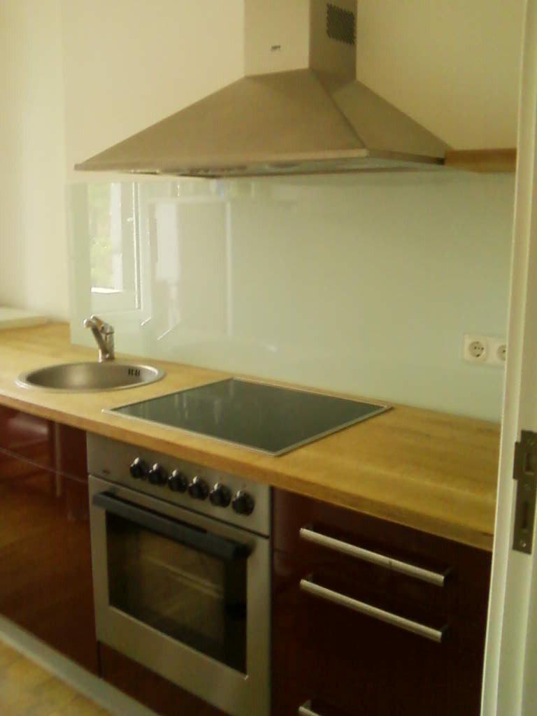 Küchenarbeitsplatte aus Multiplex mit Eichendickschicht Furnier
