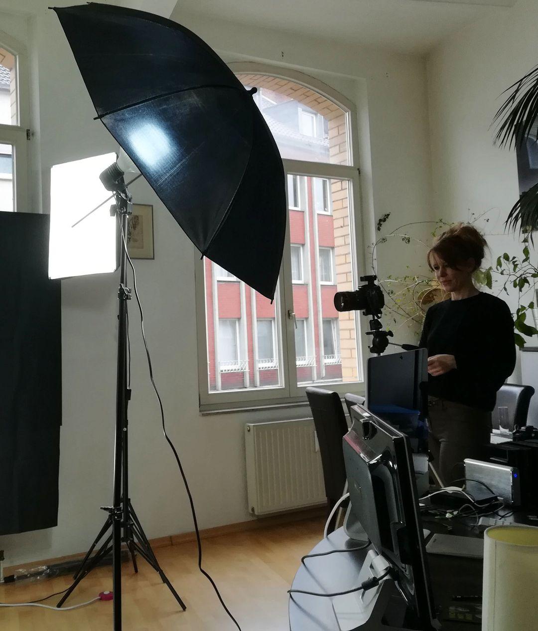 Portraitshooting im Homestudio bei Godot-Plus