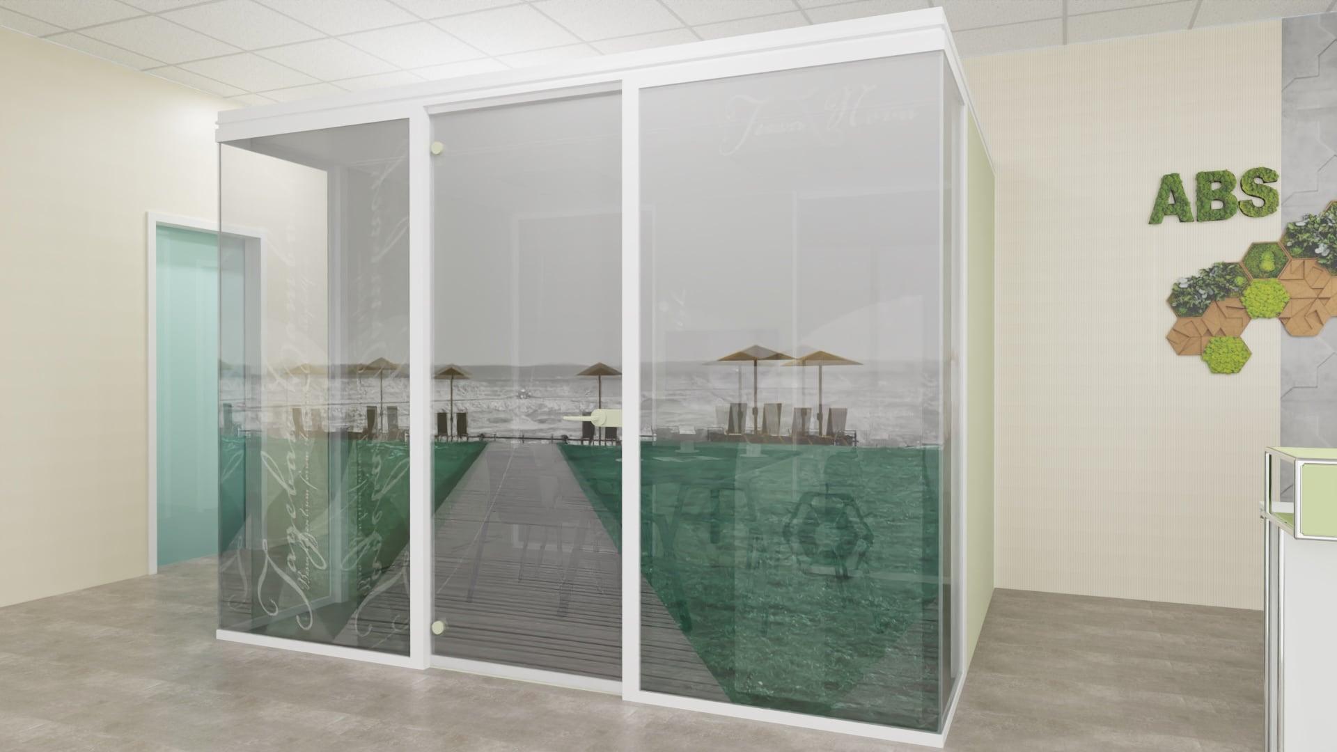 """Hambach"" Raum im Raum Cube – Neue Büroräume © ABS Anke Brand Steuerberatungsgesellschaft mbH & Eva Lenzenhuber"