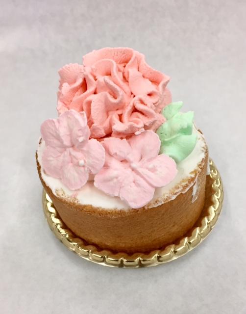 フラワーケーキ、お花ケーキ、母の日ケーキ、母の日、バタークリーム、カーネーション