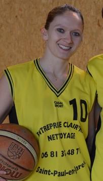 Bénédicte Dussart, Joueuse Sénior et Présidente du Cs St Paul-en-Jarez-Basket