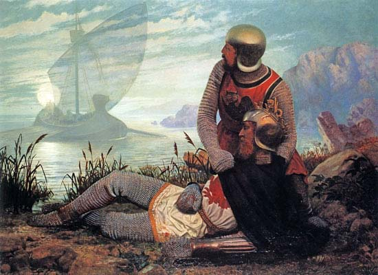 "John Mulcaster Carrick: ""King Arthur's Dead"", Gemälde, 1862"
