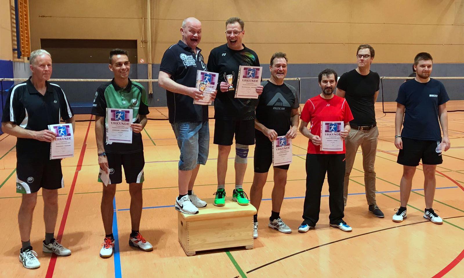 Siegerfoto Stadtmeister 2018 Herrendoppel C