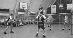 CBC-Damen in der Blockabwehr gegen den späteren Turniersieger aus Ujszász