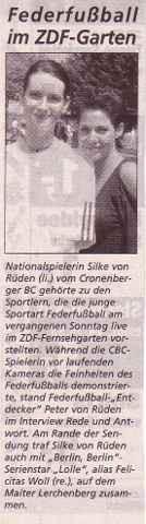 Cronenberger Woche Bericht vom 06.06.2003