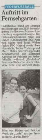 Westdeutsche Zeitung vom 04.06.2003