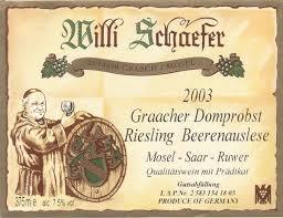 Willi Schaefer Graacher Domprobs Riesling Beerenausleses