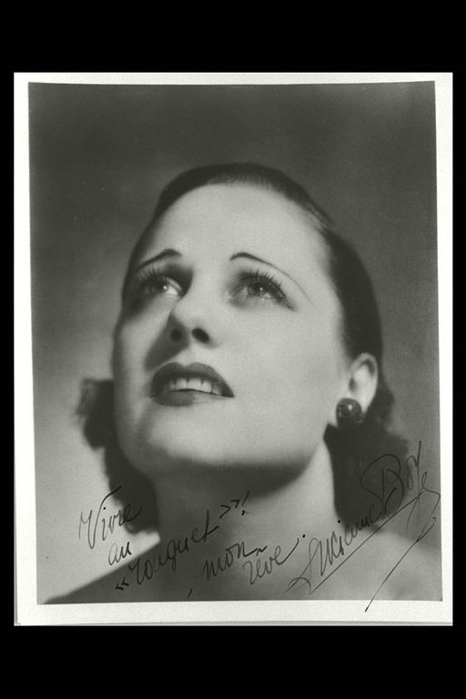 Portrait de Lucienne Boyer, vers 1933