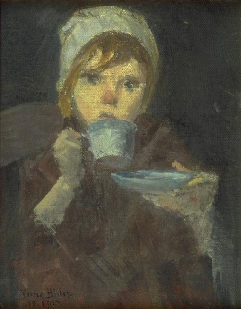 Pierre Billet, La tasse de café © Musée du Touquet-Paris-Plage