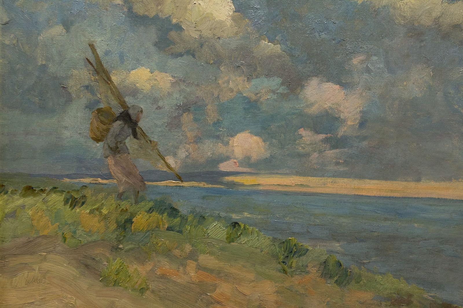 Eugène Chigot, Pêcheuses de crevettes, 1893 © Musée du Touquet-Paris-Plage / Yabid Medmoun