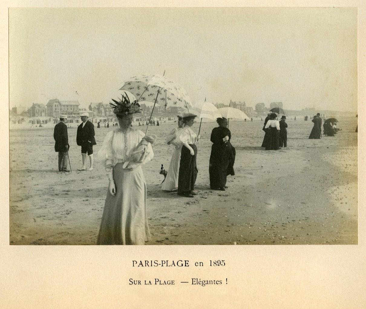 Edouard Lévèque, sur la plage - Elégantes