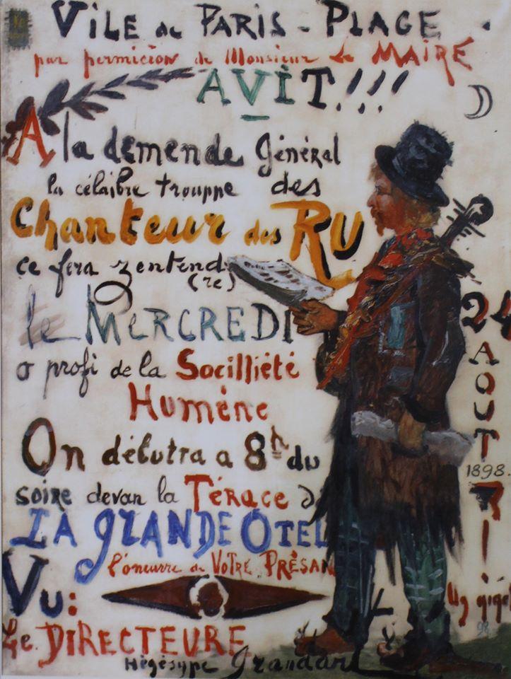 Eugène Chigot, Affiche-annonce : chanteur des rues, 1898 © Musée du Touquet-Paris-Plage