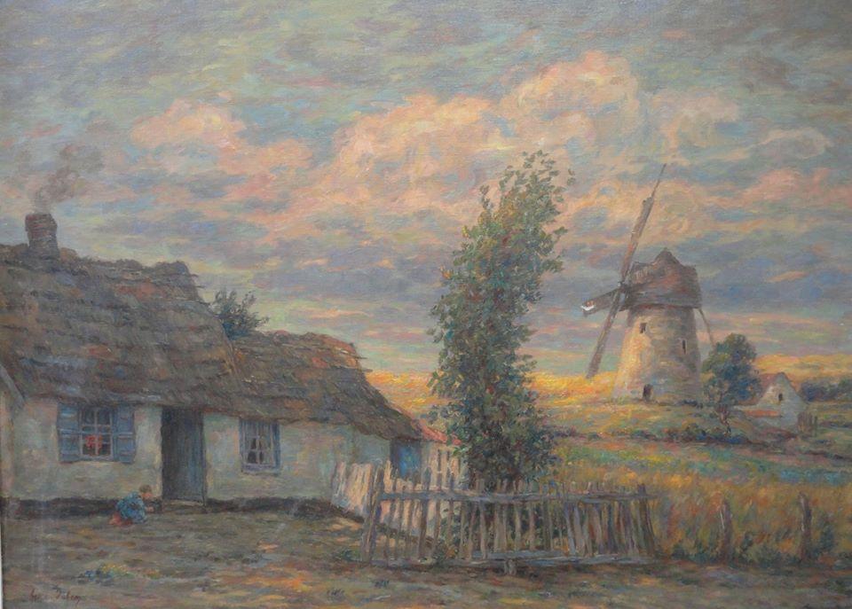 Henri Duhem, Moulin du Boulonnais au soleil couchant © Musée du Touquet-Paris-Plage /Bruno Jagerschmidt