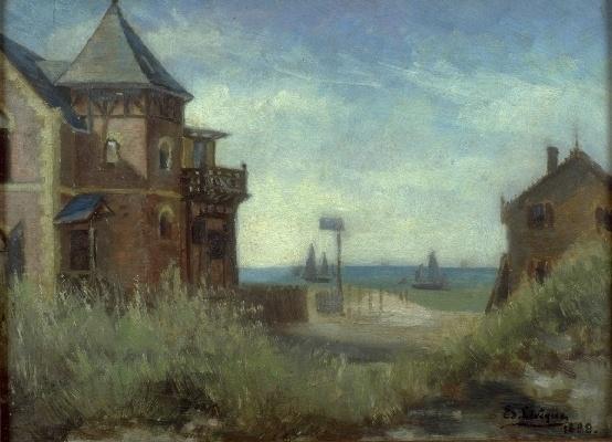Edouard Lévêque, Villas, angle rue de la Paix, 1888 © Musée du Touquet-Paris-Plage