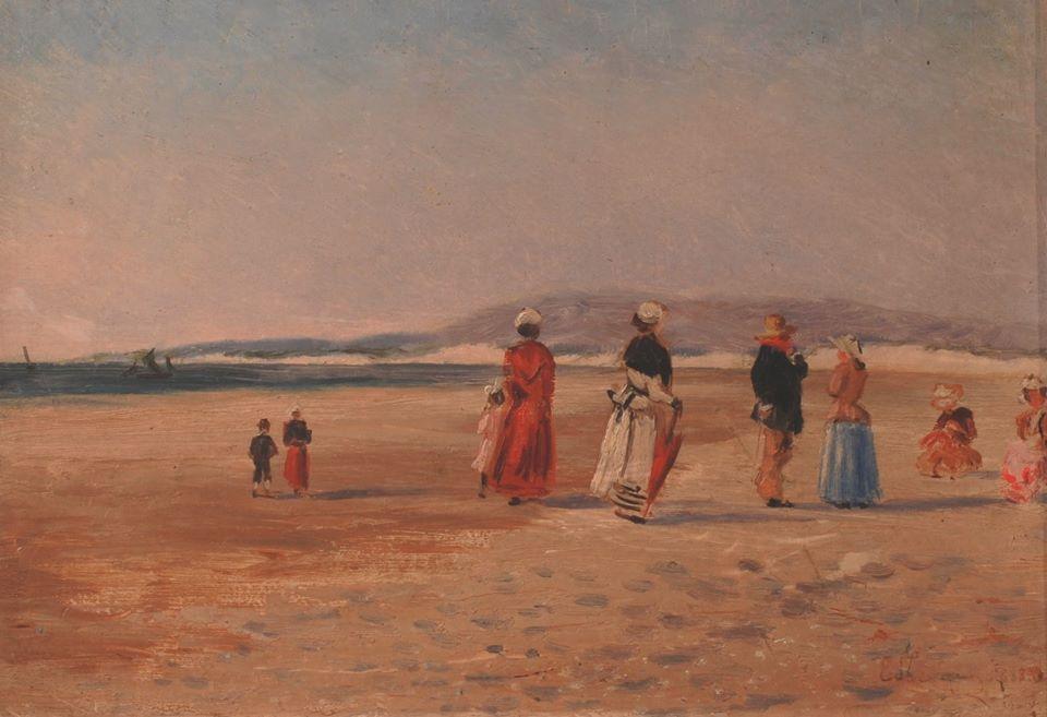 Edouard Lévêque, La baie de Canche, 1888 © Musée du Touquet-Paris-Plage