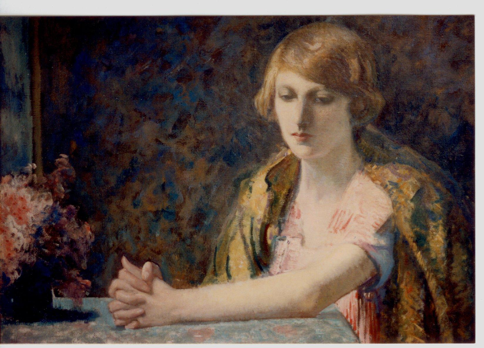 Myron Barlow, Jeune fille assise © Musée du Touquet-Paris-Plage