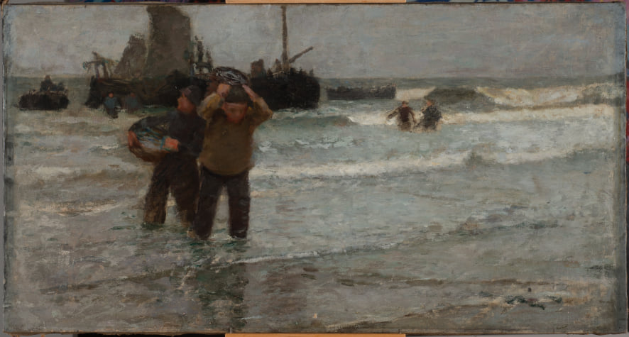Eugène Vail, Pêcheurs en Mer du Nord, 1893 © Musée du Touquet-Paris-Plage / Xavier Nicostrate