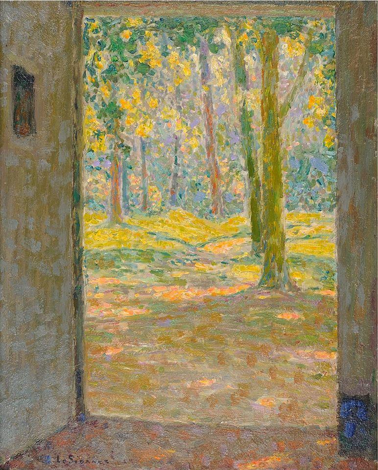 Henri Le Sidaner, La porte ouverte sur le verger, 1924 © Musée du Touquet-Paris-Plage / Bruno Jagerschmidt