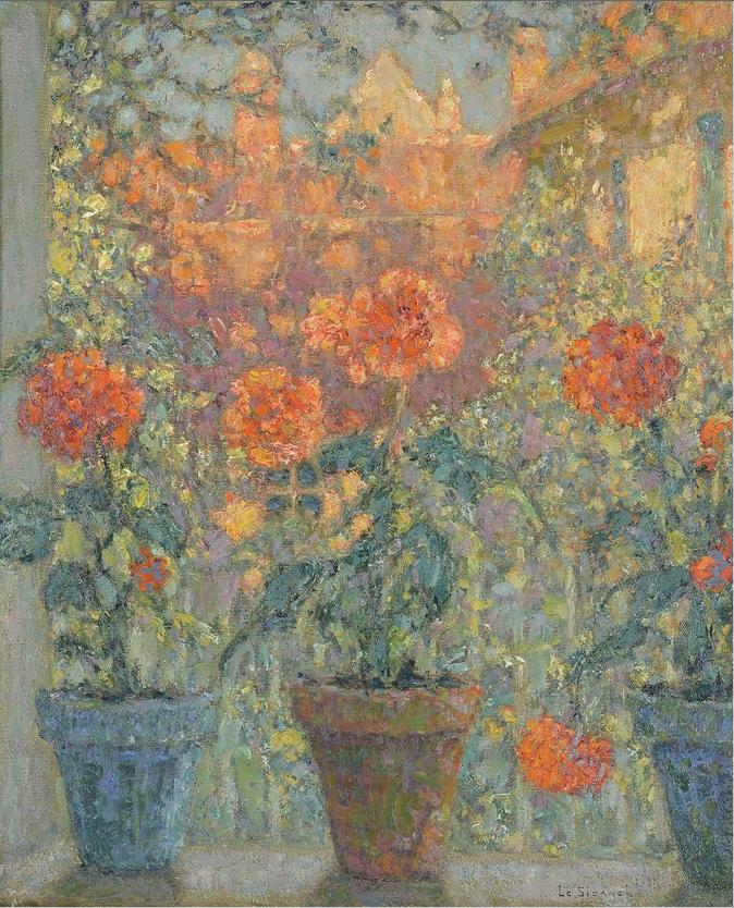 Henri Le Sidaner, Les trois pots de fleurs, 1937 © Musée du Touquet-Paris-Plage / Bruno Jagerschmidt