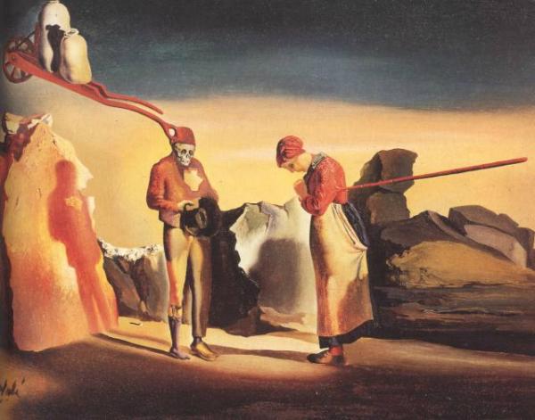 Salvador Dalí, L'atavisme du crépuscule (d'après L'Angelus de Millet), 1934 © Heilmann Eric