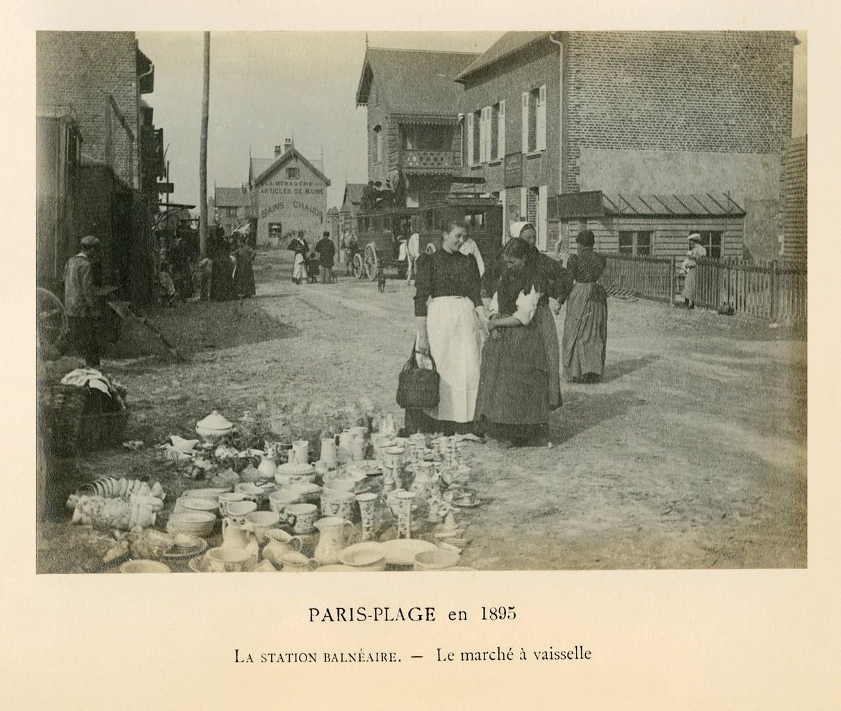 Edouard Lévèque, Station balnéaire - le marché à vaisselle