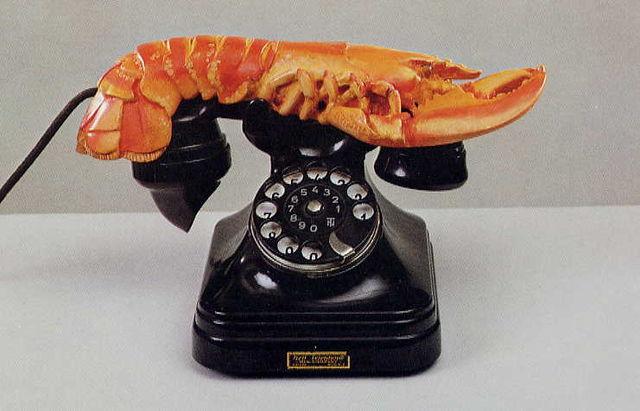 Salvador Dalí, Téléphone Homard, 1936