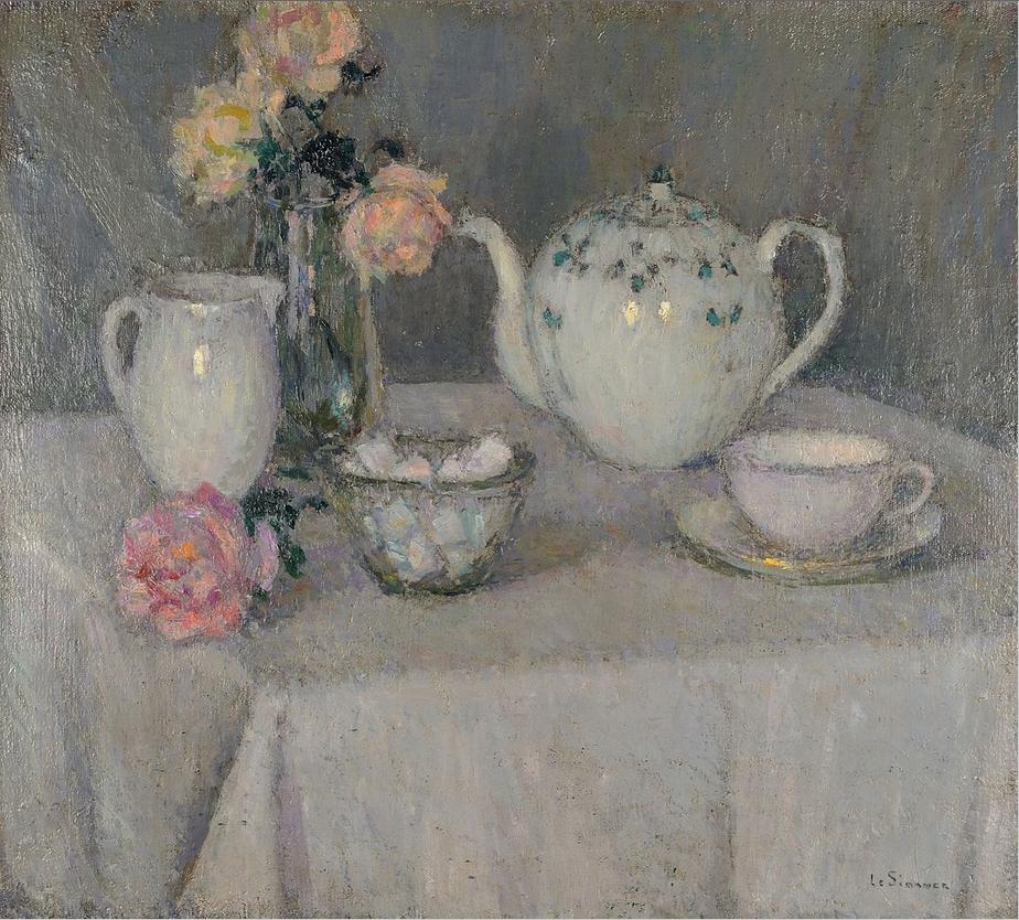 Henri Le Sidaner, La tasse de thé, 1937-1938 © Musée du Touquet-Paris-Plage / Bruno Jagerschmidt