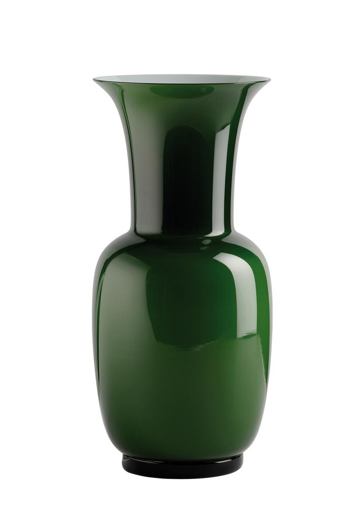VENINI Vase OPALINO, verde mela