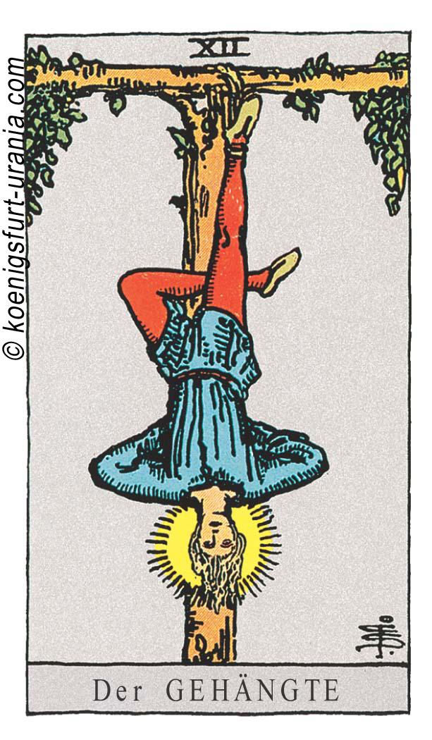 Der Gehängte im Tarot: für Liebe, Beruf, Seelenpartner & Dualseelen