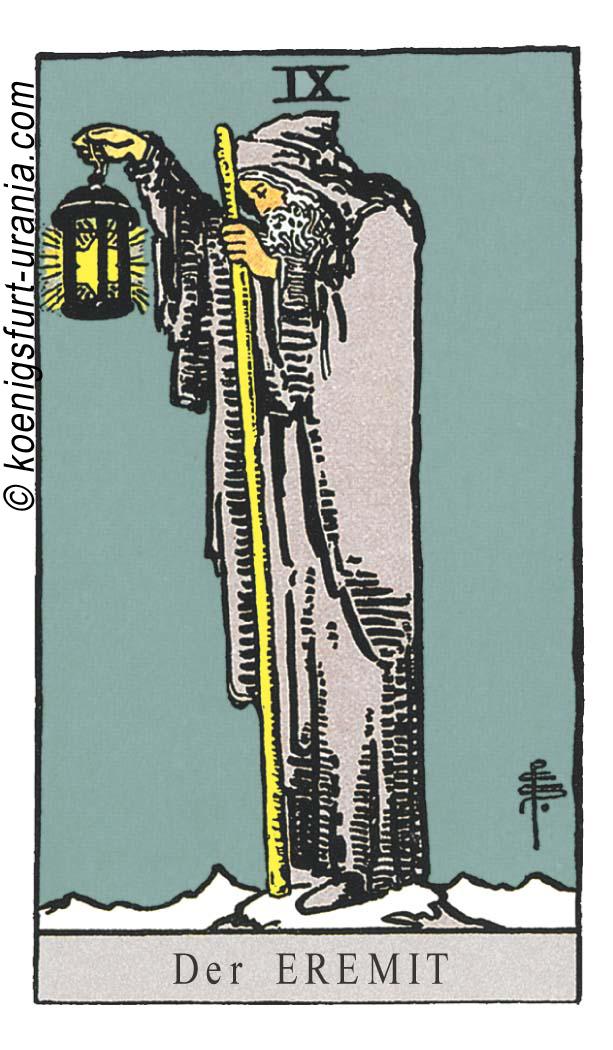 Der Eremit im Tarot: für Liebe, Beruf, Seelenpartner & Dualseelen