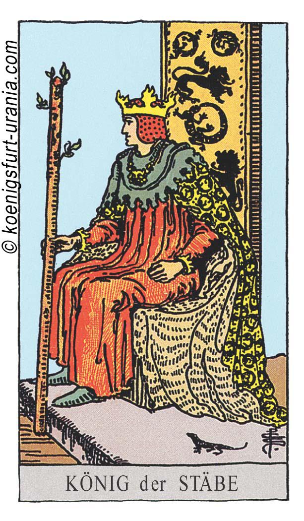König der Stäbe im Tarot für Liebe, Sexualität, Beruf, Dualseelen & Seelenpartner im Tarot