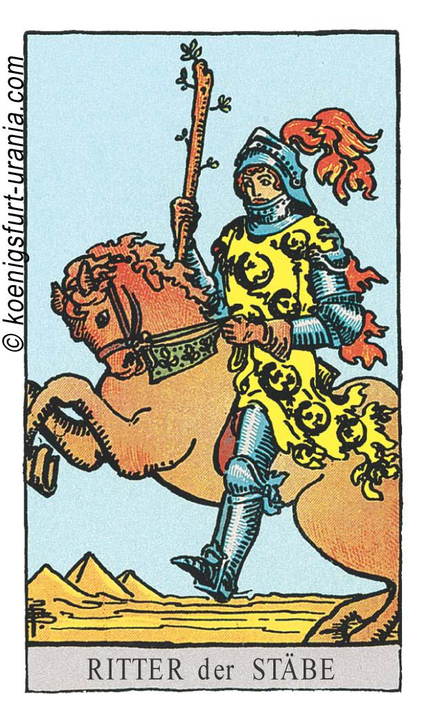 Ritter der Stäbe im Tarot für Liebe, Sexualität, Beruf, Dualseelen & Seelenpartner im Tarot