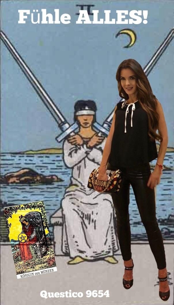 Lernaufgabe Dualseele Zwei Der Schwerter Königin Der Münzen