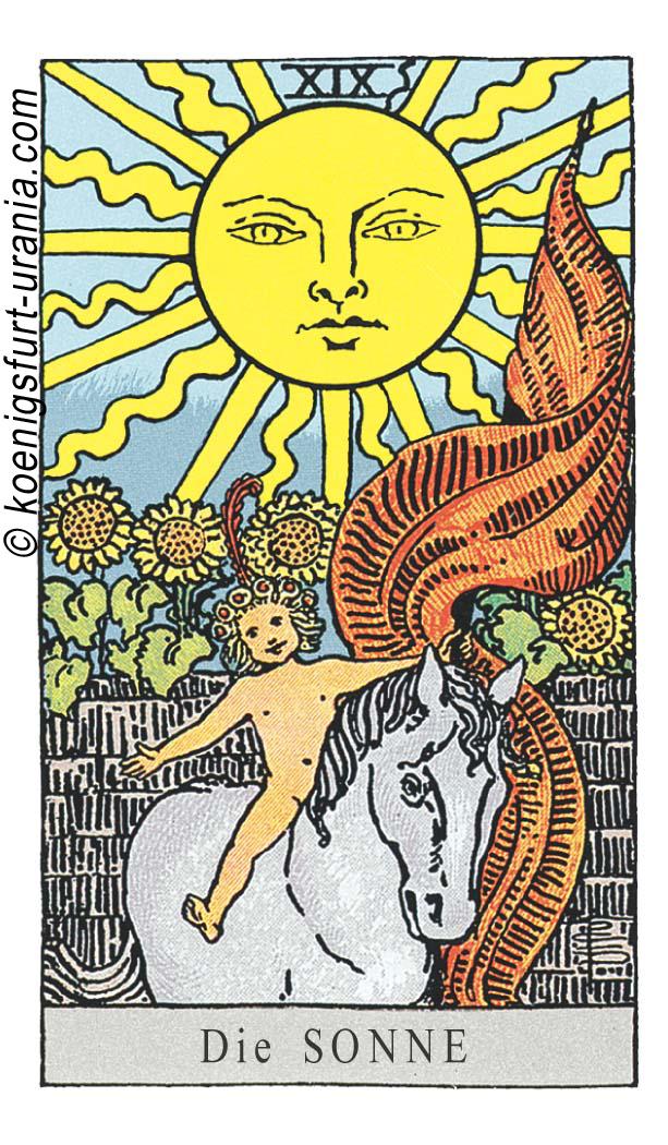 Sonne im Tarot für Liebe, Sexualität, Dualseelen & Seelenpartner