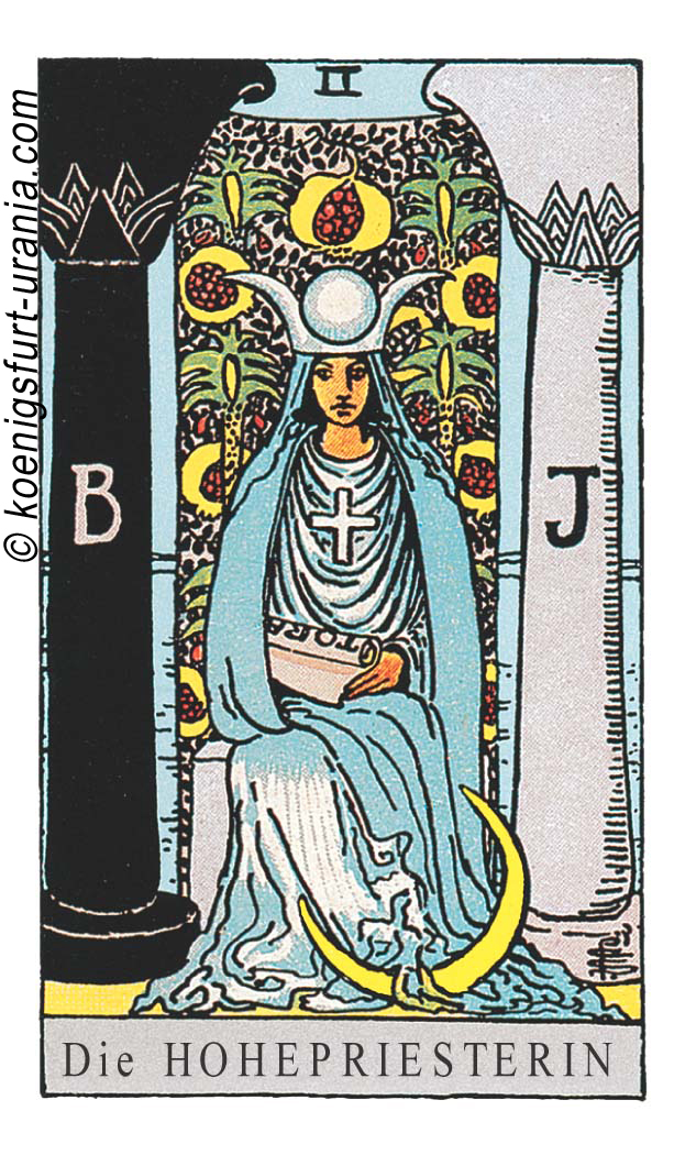 Die Hohepriesterin im Tarot: für Liebe, Beruf, Seelenpartner & Dualseelen