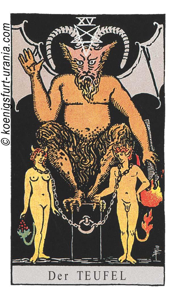 Der Teufel im Tarot für Liebe, Sexualität, Beruf, Dualseelen & Seelenpartner im Tarot