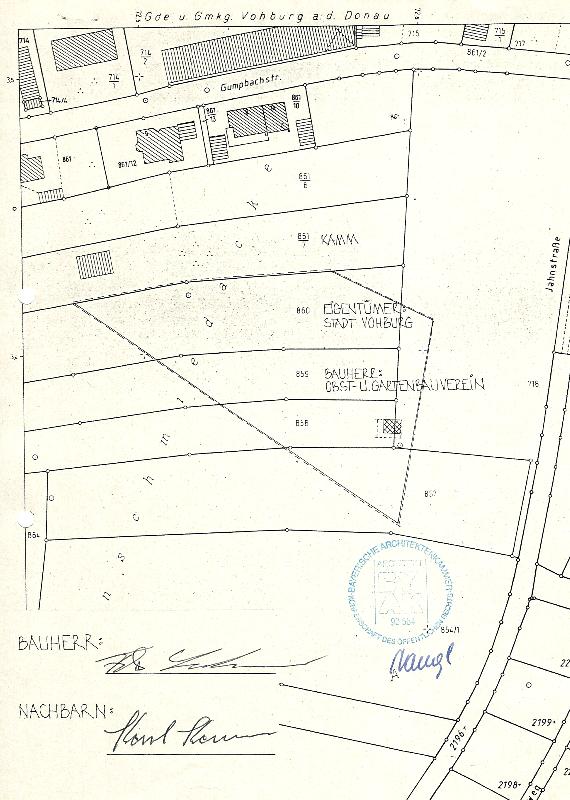Beschreibung  der Fläche Lehrgarten an der Jahnstraße und angrenzende Grundstücke