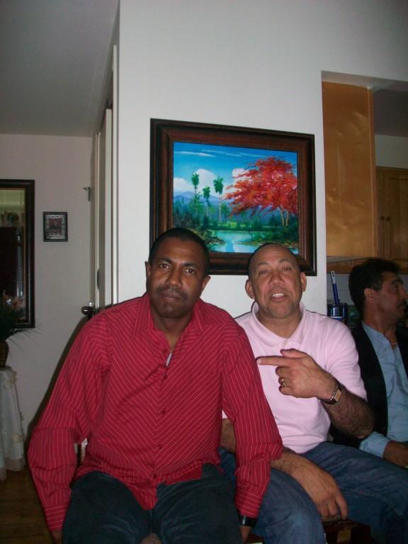 El Manager de Los Azules junto al Expresidente de la Liga.