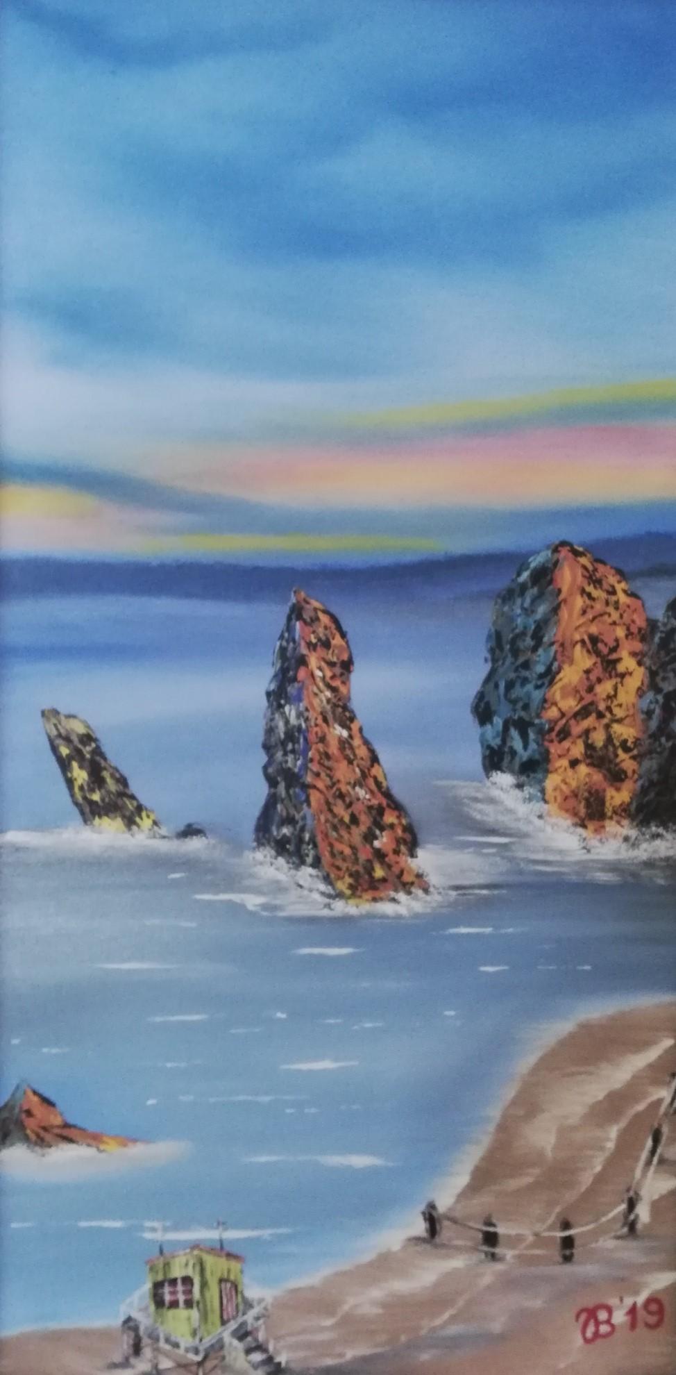 (52)     Strandhäuschen     50 cm x 100 cm