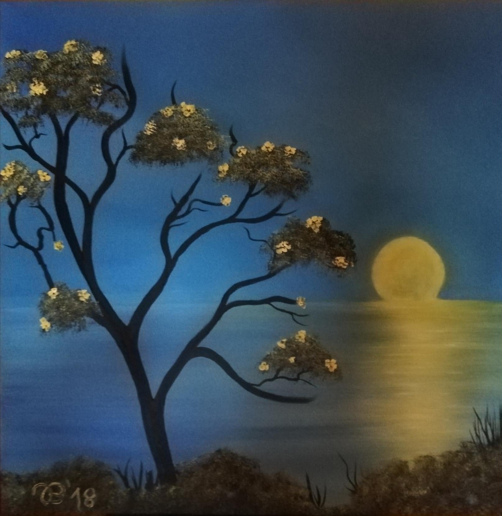 (66)     Mondspiegeleien     70 cm x 70 cm