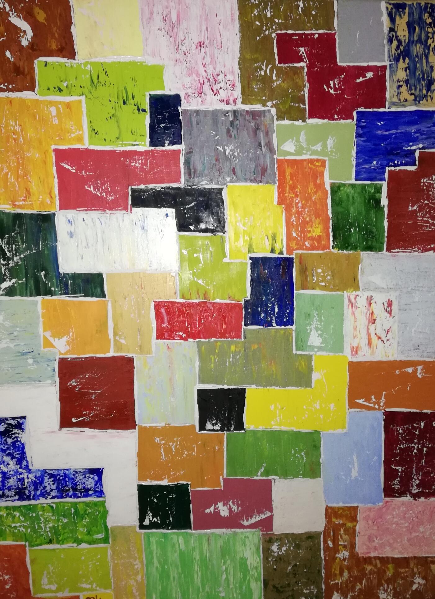 (79)     Farbenspiel     60 cm x 80 cm