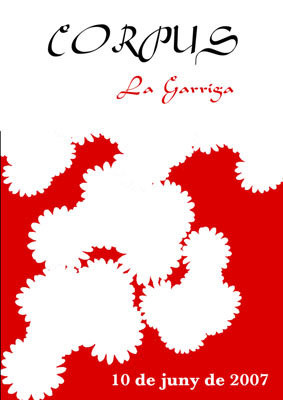 Cartell 2007. Obra de Lourdes Sánchez