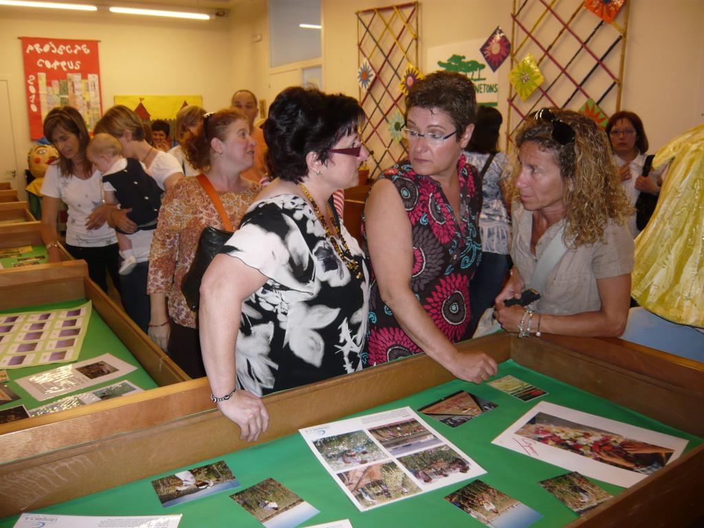 1/06/2010 Inauguració de l'exposició històrica de les catifes de l'escola Pinetons i projectes 2010 de les escoles. A la Parròquia