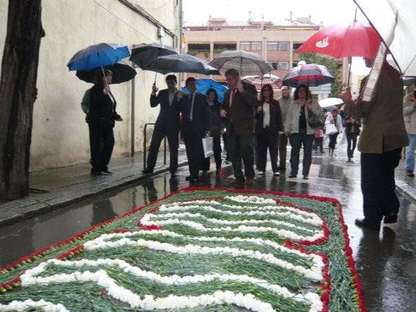 Associació Cultural Asilah-la Garriga. Visita de Lluís Noguera, secretari general del Departament de Cultura, i del diputat del PSC Mohamed Chaib