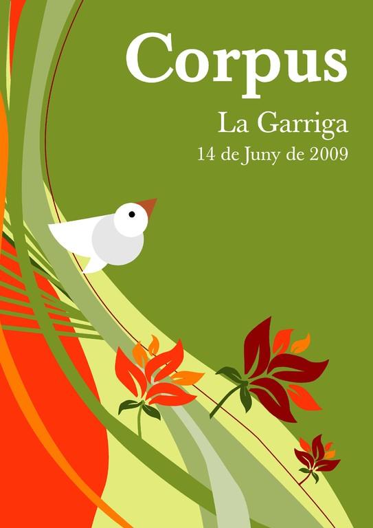 Cartell 2009. Obra de David Cañón