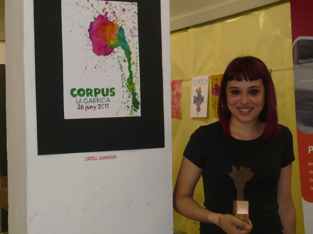 6/6/2010 Anna Pagès rep el premi del 25è Concurs de cartells