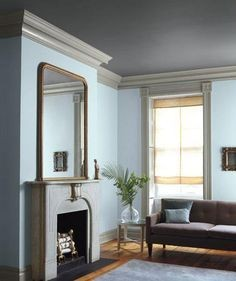 Brooklyn Townhouse Living Room, Scheme B - Real Simple Magazine. Color palette by Eve Ashcraft. Photograph by Gentl & Hyers